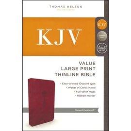 KJV Large Print Thinline Bible, Burgundy Leathersoft