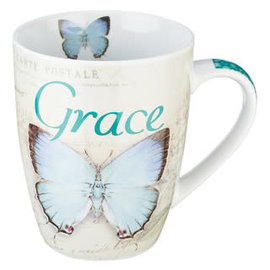 Mug - Grace, Blue Butterfly