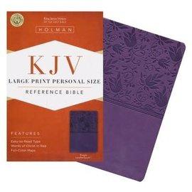 KJV Large Print Reference Bible, Purple Imitation Leather, Indexed
