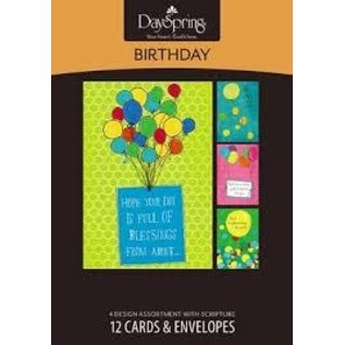 Boxed Cards - Birthday, Balloons