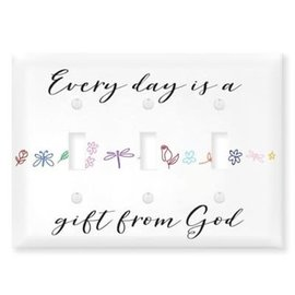 Light Switch Cover - Every Day Is A Gift From God, Triple