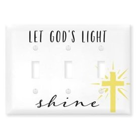 Light Switch Cover - Let God's Light Shine, Triple