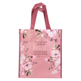 Tote Bag - Trust in the Lord, Pink