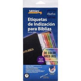 Bible Indexing Tabs - Rainbow (Spanish)
