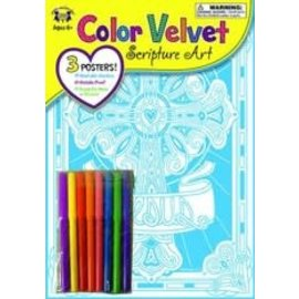 Velvet Scripture Art - Hebrews 12:2