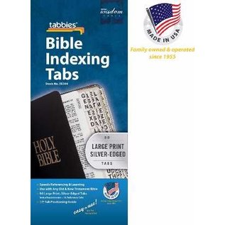 Bible Indexing Tabs - Silver, Large Print