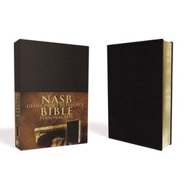 NASB Giant Print Reference Bible, Black Imitation Leather