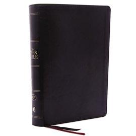 KJV Open Bible, Black Leathersoft, Indexed