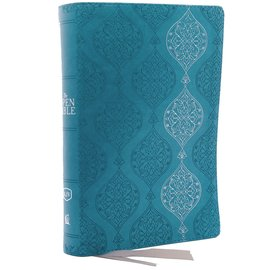KJV Open Bible, Turquoise Leathersoft