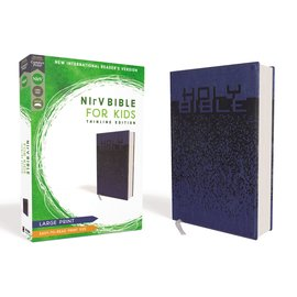 NIrV Large Print Thinline Bible for Kids, Blue Leathersoft