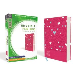 NIrV Large Print Thinline Bible for Kids, Pink Leathersoft