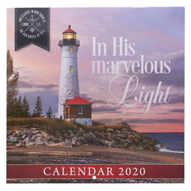 2020 Wall Calendar - In His Marvelous Light