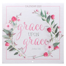 2020 Wall Calendar - Grace Upon Grace