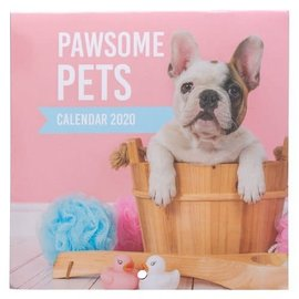 2020 Wall Calendar - Pawsome Pets, Small