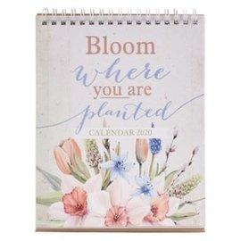 2020 Desktop Calendar - Bloom Where You Are Planted