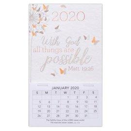 2020 Mini Magnetic Calendar - With God