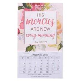 2020 Mini Magnetic Calendar - His Mercies