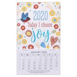 2020 Mini Magnetic Calendar - Choose Joy