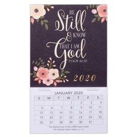 2020 Mini Magnetic Calendar - Be Still