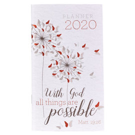 2020 Daily Pocket Planner - With God All Things Are Possible
