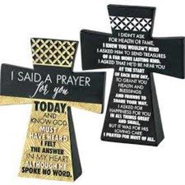 Tabletop Cross - I Said a Prayer