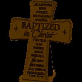 Cross - Baptized in Christ, Tabletop