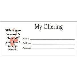 "Offering Envelopes - 100 ""My Offering"", Bill size"