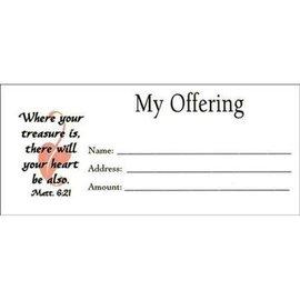 "Offering Envelopes - 100 ""My Offering"", Bill size"