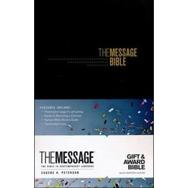 Message Gift & Award Bible, Black Imitation Leather