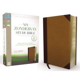 NIV Zondervan Study Bible - Chocolate/Caramel Leathersoft