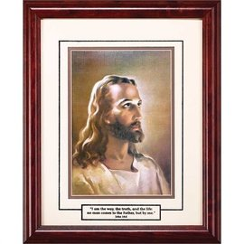 Framed Art - Head of Christ I Am The Way