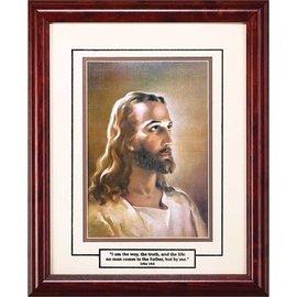 Framed Art - Head of Christ I Am The Way