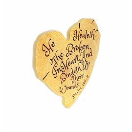 Wall Art - He Healeth, Heart