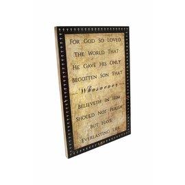 Wall Art - Cross Frame, John 3:16