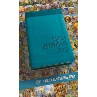 ESV Family Devotional Bible, Blue TruTone
