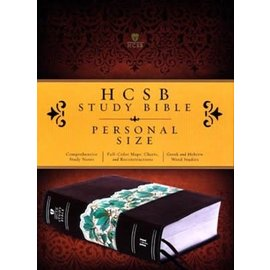 HCSB Study Bible, Espresso/Teal LeatherTouch