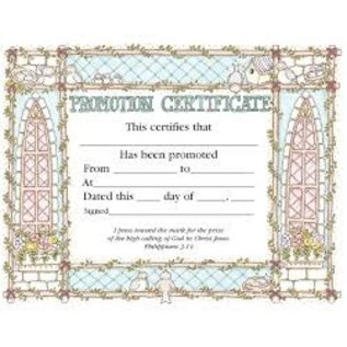 Certificate - Promotion, 36 Pack