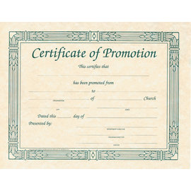 Certificate - Promotion, 6 Pack
