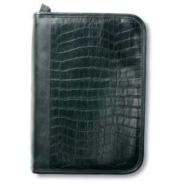 Bible Cover - Black Alligator, Extra Large