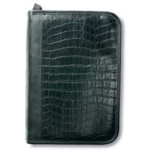 Bible Cover - Black Alligator, Extra Large