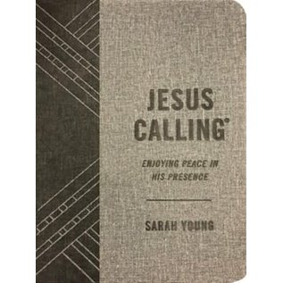 Jesus Calling, Textured Gray Leathersoft
