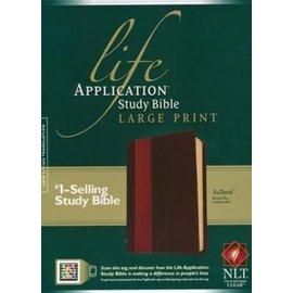 NLT Large Print Life Application Study Bible, Brown/Tan LeatherLike