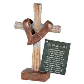Tabletop Cross - Cross My Heart