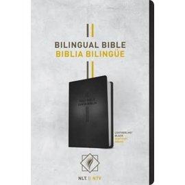 NLT/NTV Bilingual Bible, Black Imitation Leather