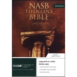 NASB Large Print Thinline Bible, Black Bonded Leather