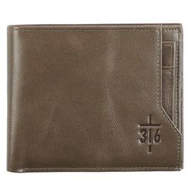 Men's Wallet - John 3:16, ID Sleeve