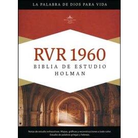 RVR Biblia de Estudio, Brown Imitation Leather (Spanish)