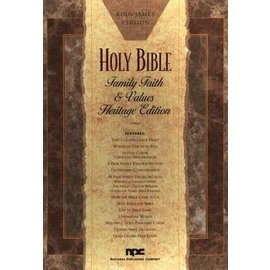 KJV Family, Faith, & Values Bible, Black Bonded Leather, Heritage Edition