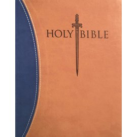 KJVer Large Print Sword Study Bible, Blue/Tan Ultrasoft, Indexed