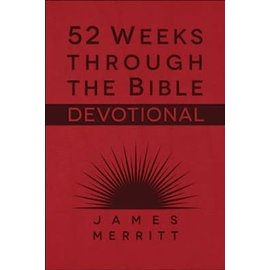 52 Weeks Through the Bible Devotional (James Merritt), Imitation Leather